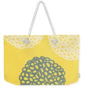 Yellow And Gray Garden Bloom Weekender Tote Bag