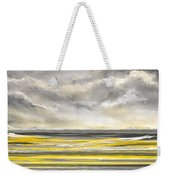 Yellow And Gray Seascape Art Weekender Tote Bag