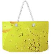 Yellow And Orange Oil Droplet On Water Weekender Tote Bag