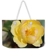 Yellow And Pink Tipped Rose Weekender Tote Bag