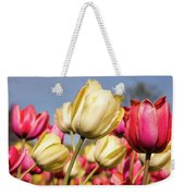 Yellow And Pink Tulips V 2018 Weekender Tote Bag