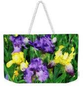 Yellow And Purple Irises Weekender Tote Bag