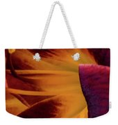 Yellow And Purple Weekender Tote Bag