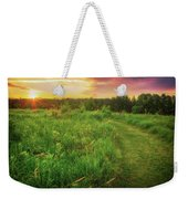 Retzer Nature Center - Yellow And Purple Summer Sunset  Weekender Tote Bag