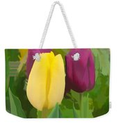 Yellow And Purple Tuilps Weekender Tote Bag