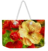 Yellow And Red Floral Delight Weekender Tote Bag