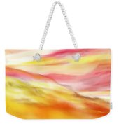 Yellow And Red Landscape Weekender Tote Bag