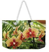 Yellow And Red Spotted Phalaenopsis Orchids Weekender Tote Bag