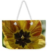 Yellow And Red Tulip Center Squared Weekender Tote Bag