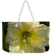 Yellow And White Daylily Weekender Tote Bag