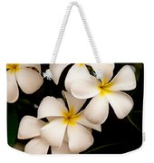 Yellow And White Plumeria Weekender Tote Bag by Brian Harig