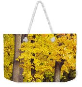 Yellow Autumn Trees Weekender Tote Bag