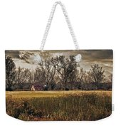 Yellow Barn And The Field Weekender Tote Bag