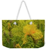Yellow Bearded Iris Weekender Tote Bag