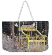 Yellow Bench Weekender Tote Bag
