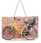 Yellow Bicycle Digital Watercolour Weekender Tote Bag
