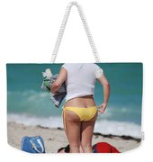 Yellow Bikini Bottom Weekender Tote Bag