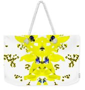 Yellow Blue Blossoms Weekender Tote Bag
