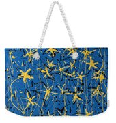 Yellow Blue Weekender Tote Bag