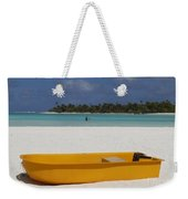 Yellow Boat In South Pacific Weekender Tote Bag
