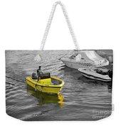 Yellow Boat Weekender Tote Bag
