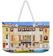 Yellow Boat - Venice Italy Weekender Tote Bag