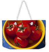Yellow Bowl Of Tomatoes  Weekender Tote Bag