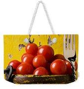 Yellow Bucket With Tomatoes Weekender Tote Bag