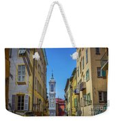 Yellow Buildings And Chapel In Old Town Nice, France - Landscape Weekender Tote Bag
