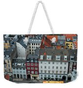 Yellow Bus In Copenhagen Denmark Weekender Tote Bag by Mary Lee Dereske