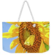 Yellow Butterfly And Sunflower Weekender Tote Bag
