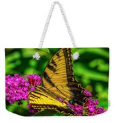 Yellow Butterfly In The Garden Weekender Tote Bag