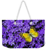 Yellow Butterfly On Mee Weekender Tote Bag