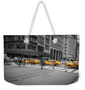 Yellow Cab On Fifth Avenue, New York 4 Weekender Tote Bag