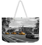 Yellow Cabs By The United Nations, New York 2 Weekender Tote Bag