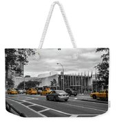 Yellow Cabs By The United Nations, New York 3 Weekender Tote Bag