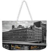 Yellow Cabs In Chelsea, New York 3 Weekender Tote Bag