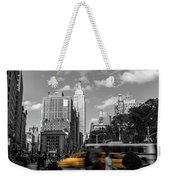 Yellow Cabs In Midtown Manhattan, New York Weekender Tote Bag
