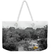 Yellow Cabs Near Central Park, New York Weekender Tote Bag