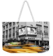 Yellow Cabs Near Macy's Department Store, New York Weekender Tote Bag