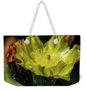 Yellow Cactus Blossom Weekender Tote Bag