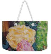 Yellow Cactus Flower Weekender Tote Bag