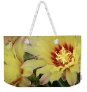 Yellow Cactus Plant Flower Weekender Tote Bag
