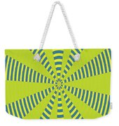 Yellow Cactus Spines Abstract Weekender Tote Bag