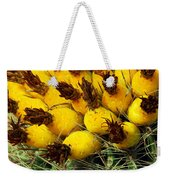 Yellow Cactus Weekender Tote Bag