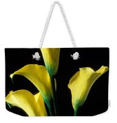Yellow Calla Lilies  Weekender Tote Bag by Garry Gay