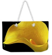 Yellow Calla Lily In Black And White Vase Weekender Tote Bag by Garry Gay