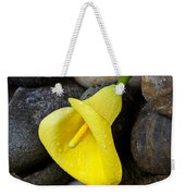Yellow Calla Lily On Rocks Weekender Tote Bag