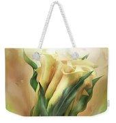 Yellow Callas In Calla Vase Weekender Tote Bag
