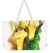 Yellow Callas Weekender Tote Bag